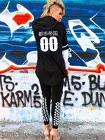 Button Baseball Jersey with Hood & Long Sleeves - Urban Empire