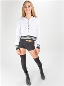 Cropped Front Lace Up Jersey