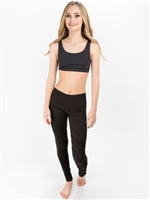 Ruched Legging with Sheer Side Panel